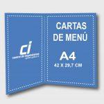 CARTAS DE MENU
